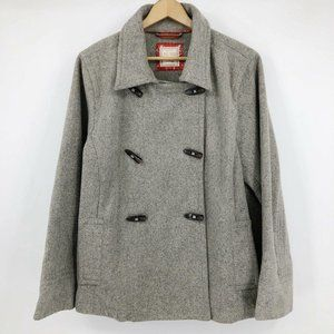 Old Navy Wool Pea Coat Toggle Button Short Gray